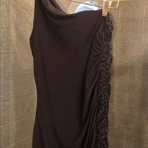 Scarlett Dresses - Scarlett one shoulder black formal gown